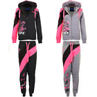 Womens Luminous Floral Dope Streetwear Tracksuit Set 2 Piece Casual Joggers