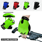 Cycling Gloves Gel Protection Half Finger Bike Breathable Fingerless Cycle Glove