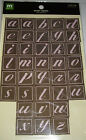 NEW WOVEN ALPHAS *You Choose* Alphabet ABC Letters MAKING MEMORIES Self Adhesive