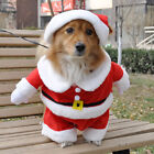 Pet Puppy Dog Christmas Clothes Santa Claus Costume Outwear Coat Hoodie Outfit