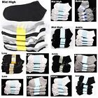 12 Pair Lot Boy Girl Socks Spandex Baby Toddler Kid White Black 0-12 2-3 4-6 6-8
