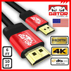Mini HDMI to HDMI Cable Cord Male Adapter Gold Plated Type C HDTV 1080p 6ft 10ft