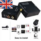 Digital to Analog Audio Optical Cable Coaxial Toslink SPDIF RCA R/L Converter UK