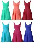New Short Chiffon Bridesmaid Homecoming Party Prom Dresses Evening Gown Size4-16