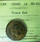 1898H -Canada Largr Cent  -ICCS GRADED - Desirable,HIGH GRADE coin