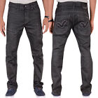 Voi Jeans Booth 010 Mens Designer Dark Wash Boot Cut Straight Leg Jeans Trousers