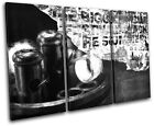 Industrial Grunge Abstract TREBLE CANVAS WALL ART Picture Print