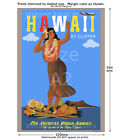 Pan Am - Hawaii - Vintage Airline Travel Poster [6 sizes, matte+glossy avail]