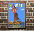 Pan Am Hawaii Vintage Airline Travel Poster 6 sizes matte+glossy avail