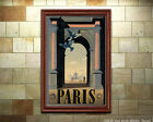 Paris #2 - Digitally restored Vintage Travel Poster