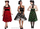 Hell Bunny Gothic Bat Halloween Rockabilly  Vintage 50s Circle Dress