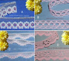 """Pink Lace Trim 8-28 Yards Vintage 5/8""""-3/4"""" Scalloped 020DV Your Choice"""