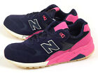 New Balance MRT580UP D Navy & Pink & White Suede Classic Retro Casual Sneakers