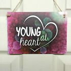 Valentines Day Sign Mature Love Gift Chic Wall Plaque Wedding - Young at heart