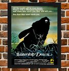 Framed Watership Down Movie Poster A4 / A3 Size In Black / White Frame