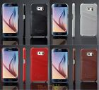 Genuine Leather Back Cover Case W/ Card Slot for Samsung Galaxy S5 S6 S6 Edge