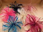 Feather Flower Fascinator with faux pearl beads Pick your colour Weddings/Race