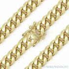 8.3mm Miami Cuban Curb Link Italy Sterling Silver 14k Yel...