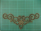 Black Iron On Embroidered Applique Patch #71 Tutu Dance Costume Trim Decoration