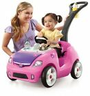 Push Pull Car Kids Toddler Drive Girls Toys Pink Ride Exercise Of Baby Play Gift