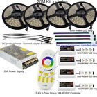 DC12V 5-20M 2.4G 4-Zone Group 5050SMD RGB/RGBW Non/Waterproof IP65 LED Strip