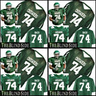 The Blind Side Movie Crusaders Green Football Jersey  #74 Michael Oher Any Size image