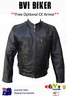 New MENS LEATHER JACKET COAT MOTORCYCLE PREMIUM LEATHER JACKET- BVI 'BIKER'