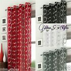 SILVER CIRCLES MEXICO VOILE CURTAIN PANEL RING TOP EYELET NET MODERN RETRO LOOK