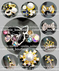 10pcs Gorgeous Design Nail Art Tips Decorations SUPERIOR Glitter Alloy Jewelry