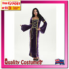 Womens Ladies Purple Velvet Medieval Renaissance Fancy Dress Costume