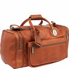 Claire Chase Classic Sports Leather Duffel Bag, Valise, Travle Luggage
