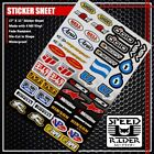 MICRO SPONSOR STICKER DECAL BEL-RAY RENTHAL HINSON GAERNE PROTAPER ALPINESTRS