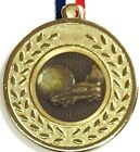 Football Medals - Silver/Gold Metal With Ribbons +FREE ENGRAVING + FREE Delivery