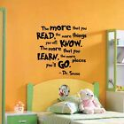 Dr Seuss Quote - Wall Decal Vinyl Sticker Monogram Nursery Playroom Shower Gift