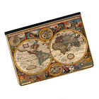 "Vintage Old World Map #3 Universal Tablet 9-10.1"" Leather Flip Case Cover"