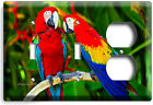 COLORFUL TROPICAL MACAW LOVE PARROTS LIGHT SWITCH WALL PLATE OUTLET HOME DECOR