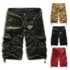 Men's Military Combat Army Trousers Tactical Work Pocket Camo Pants Cargo Shorts