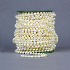 8MM Artificial Pearl Bead Garland Spool Rope Wedding Party Home Hanging Decor