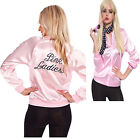 Halloween Pink Lady Jacket  Retro Grease Women Costume Hen T
