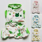 4 colors Cotton Dog Pajamas Shirt Jumpsuits Pet Apparel Dog Clothes XS S M L XL