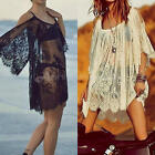 Summer Vintage Beach Dress Womens Lace Boho Casual Party White Mini Dresses Sexy