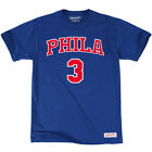 Mitchell & Ness NBA Philadelphia 76ers Allen Iverson Player Name & Number Tee