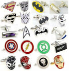 1 Pair Wedding Party Groom Shirt Square DC Marvel Super Hero CuffLinks Hot $1.79 USD
