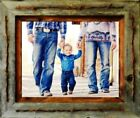 """5"""" x 7"""" Reclaimed Barn Wood 3"""" Texas Vaquero Rustic Picture Frame Ships Free"""