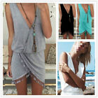Sexy Ladies Summer Casual Sleeveless Evening Party Beach Dress Short Mini Dress