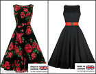 New Lady V London Hepburn Dress 1950´s Retro Vintage Rockabilly 18 22 24 26 28