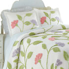 Collections Etc Floral Garden Party Chenille Pillow Sham