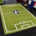 Children Playroom Rug New Football Pitch Print Play Mat Bedroom Green Kid Carpet