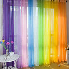 7 Pure Colors Valances Floral Tulle Voile Door Window Curtain Drape Panel Sheer