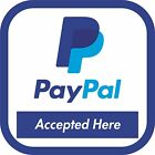 Pay Pal accepted here  outdoor / indoor vinyl decal sticker 16 sizes color print